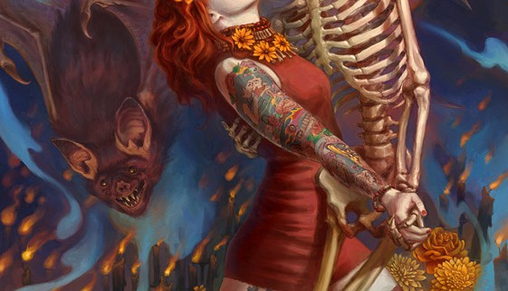 561x800_11347_Brujeria_2d_horror_dead_tattoos_bat_halloween_skeleton_dance_girl_woman_fantasy_picture_image